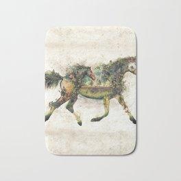 Wild Horse Surrealism Bath Mat