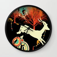 african Wall Clocks featuring African Life by Dimitra Tzanos