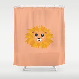Kawaii lion head T-Shirt for all Ages D9dq4 Shower Curtain