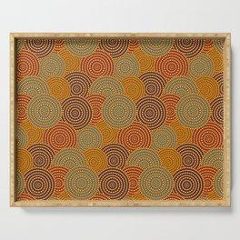 Desert Circles - Burnt Orange Serving Tray