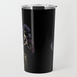 Oriental Fan Tree - Blue Travel Mug