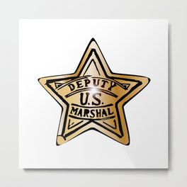 Deputy US Marshal Star Metal Print