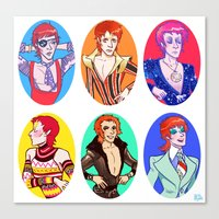 bowie Canvas Prints featuring Bowie by Jessica Fink