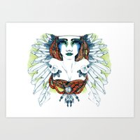 indie Art Prints featuring Indie by chiara costagliola