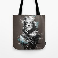 marilyn Tote Bags featuring Marilyn. by Emiliano Morciano (Ateyo)