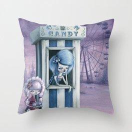 Cotton & Candy Throw Pillow