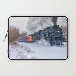 North Pole Express Train (Steam engine Pere Marquette 1225) Laptop Sleeve