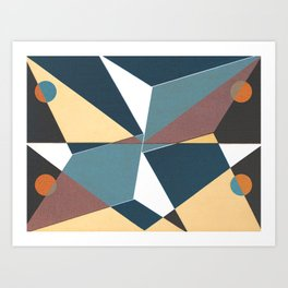 Peck the Mirror Art Print
