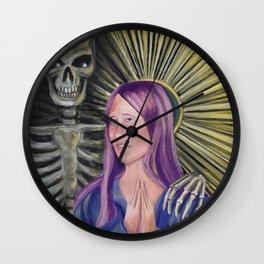 Patron Saint of Regrets Wall Clock