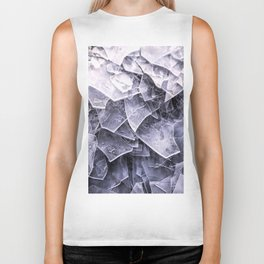 Cracked Ice Tiles In Lake Shore #decor #buyart #society6 Biker Tank