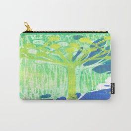 Yellow Dot Tree Carry-All Pouch
