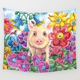 Penelope Pig Wall Tapestry