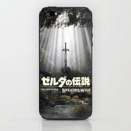 Master Sword in Ruins Zelda Poster iPhone Skin