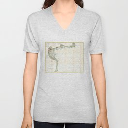 Vintage Map of Boston Bay (1866) Unisex V-Neck