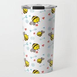 Cuddly Bees and Arrows Travel Mug