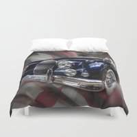 british flag Duvet Covers featuring British Beauty by Cozmic Photos