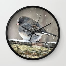 Once Upon a Snow Bird: Junco Wall Clock