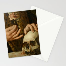 Detail from Portrait of Pompeius Occo by Dirck Jacobsz Stationery Cards