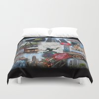 detroit Duvet Covers featuring Detroit MI by Andrew Sliwinski