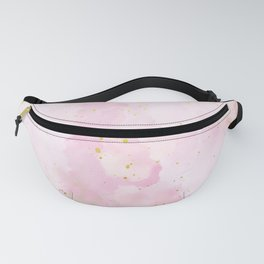Pink and Gold Watercolor 2021 Fanny Pack