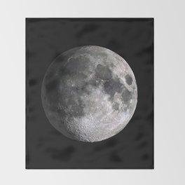 The Full Moon Super Detailed Print Throw Blanket