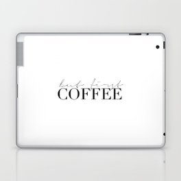 COFFEE BAR DECOR, Coffee Kitchen Decor,Modern Kitchen Art,Modern Print,Coffee Sign,Morning Quote,Ins Laptop & iPad Skin