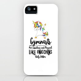 Copy of Gymnast Unicorn Gym Fitness Gymnastics Jump Flip Magical Fabulous iPhone Case