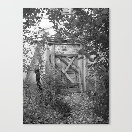 """Door to the deep down """"LIME"""" Canvas Print"""