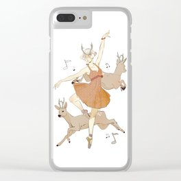 Dancing Dancer Clear iPhone Case