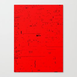 Typographic noise Canvas Print