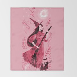 Longing for the moon Throw Blanket