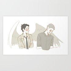Destiel1 Art Print