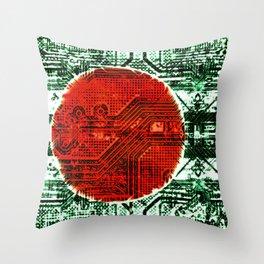 circuit board bangladesh (flag) Throw Pillow