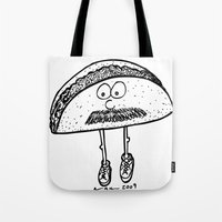 taco Tote Bags featuring Taco by Addison Karl
