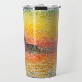 Claude Monet Sunset In Venice Travel Mug