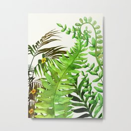 Watercolor Plants Metal Print
