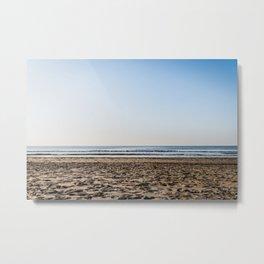 Colorful Coastline Dutch beach - Landscape ocean photography - Framed Art Work Metal Print