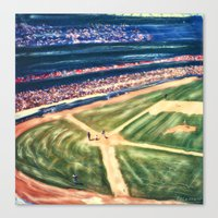 dodgers Canvas Prints featuring PLAY BALL by Gary Solomon