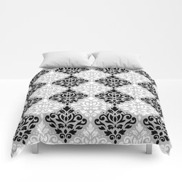 Scroll Damask Pattern BWG Comforters