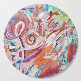 Love Grafitti Cutting Board