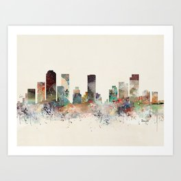 denver colorado skyline Art Print