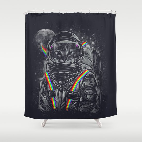 Space Mission Shower Curtain