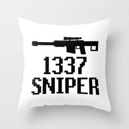 1337 SNIPER Throw Pillow