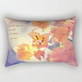 Begin with Joy Rectangular Pillow