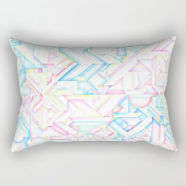90s Inspired Print // GEOMETRIC PASTEL BRIGHT SHAPES PATTERN GRAPHIC DESIGN Rectangular Pillow