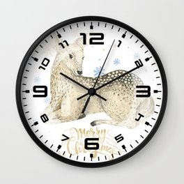 Christmas deer #1 Wall Clock