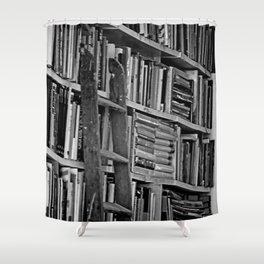 Book Shelves Shower Curtain