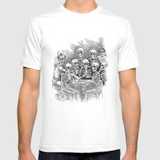 Gathered Remains MEDIUM White Mens Fitted Tee