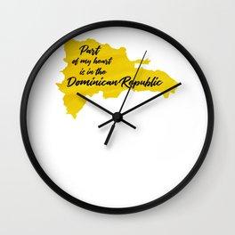 Dominican Republic Dominicano Caribbean Punta Cana Wall Clock