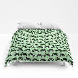 Dirt Bikes // Light Green Comforters
